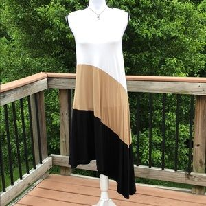 Color Block Asymmetrical Dress